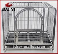 Outdoor Pet Tube Dogs Kennels / Stainless Steel Pet Cage