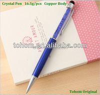 Promotional wholesale gift screen touch crystal ballpoint pen
