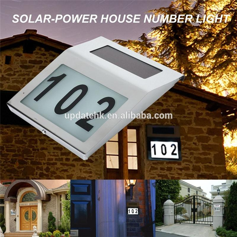 solar power 3led house address number lights outdoor