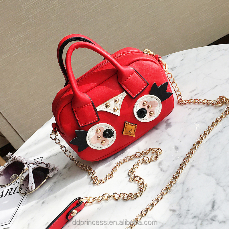 summer cartoon single shoulder bags for girls red cute hand carry bag
