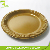 6/7/9/10/12 inch Coloful Disposable plastic charger plate for party
