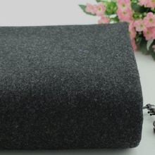 Black dark grey knitted cashmere fabric coat fabric dresses fabric
