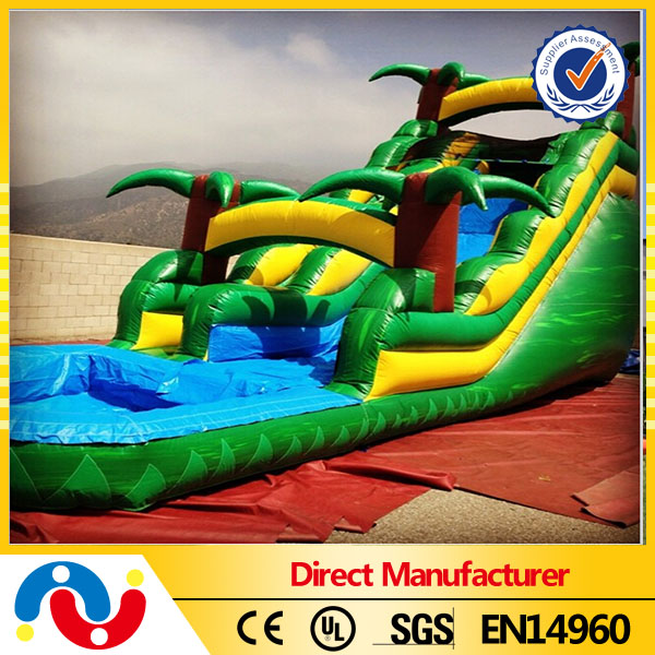 Inflatable slide for sale new largest water slide boat