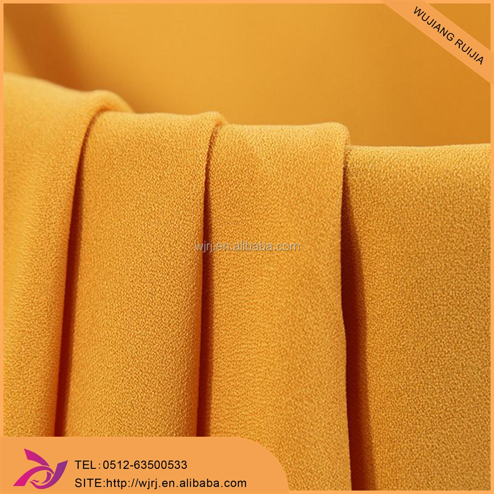 100% polyester High quality fabric for moss crepe with 4 way stretch fabric