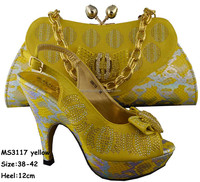 MS3117 Yellow sandalias onlinewedding sandals online rainbow rhinestone dress sandals and matching clutch bags