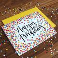 Custom Happy Birthday Greeting Flower Cards Children Design