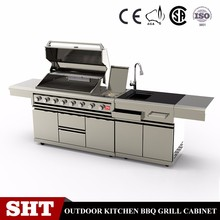 Rectangular commercial professional united bbq grill barbecue equipment kitchen cabinet
