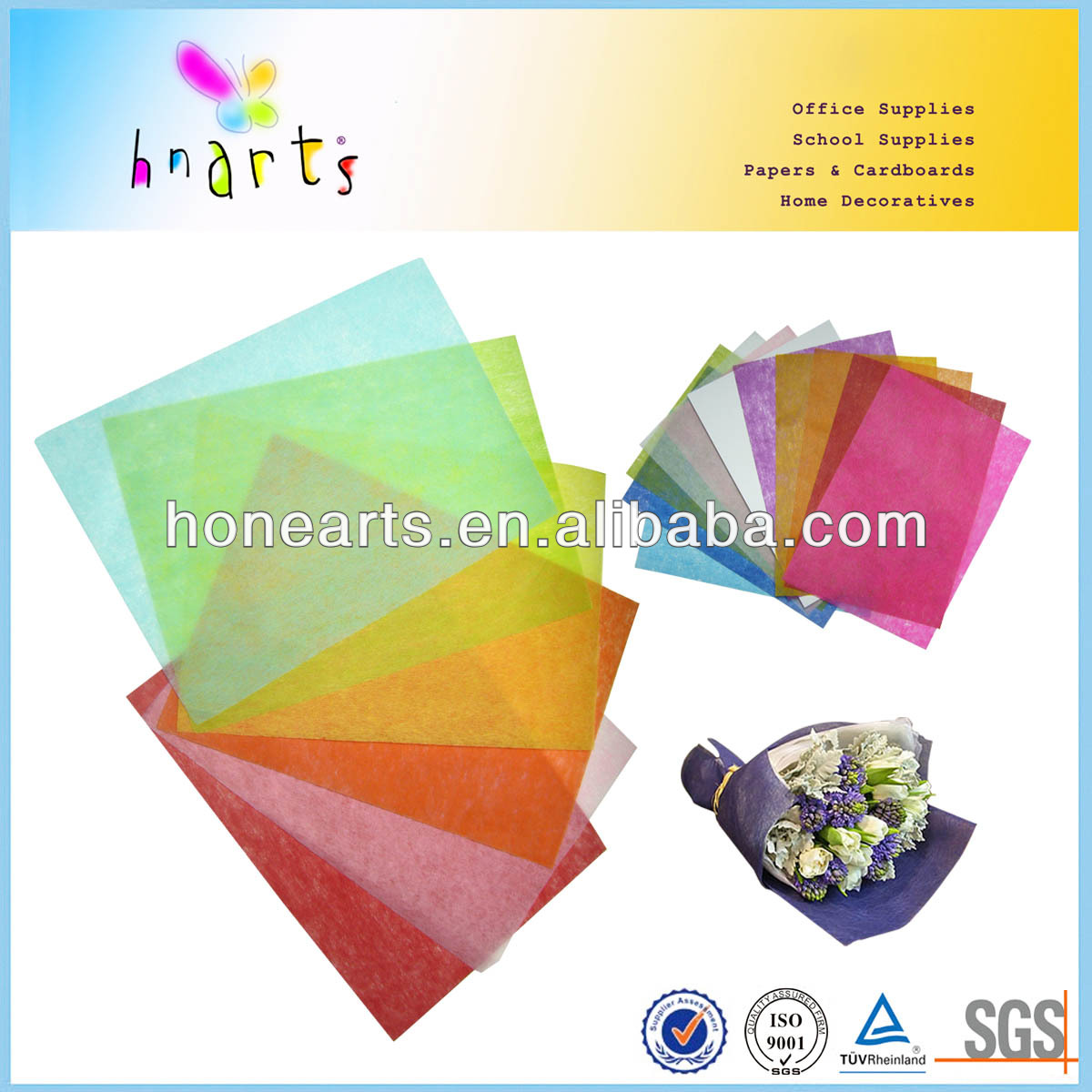 non woven polyester floral wrap for packaging supply