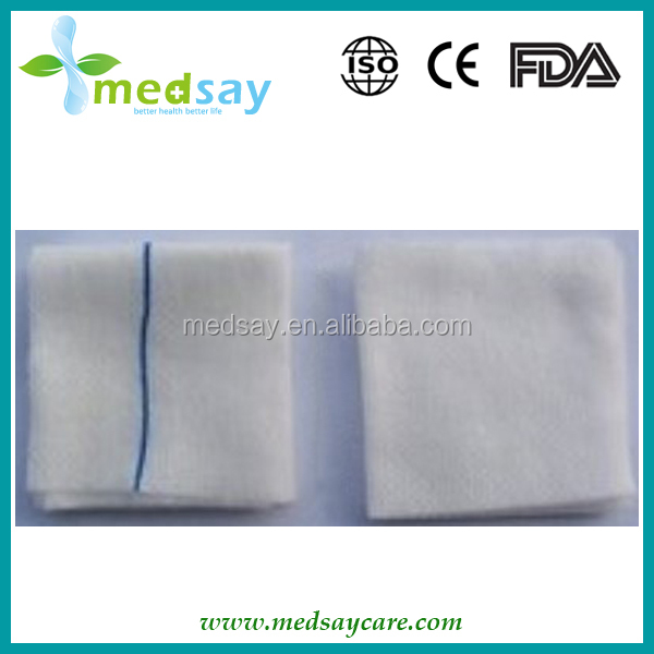 Medical disposable absorbent spunlace non woven sponges with x-ray