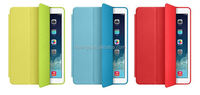 Mobile accessories magnetic smart leather cover back case leather case for apple ipad air 2