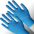 Disposable nitrile gloves blue use in auto repair industry/barber beauty sharon