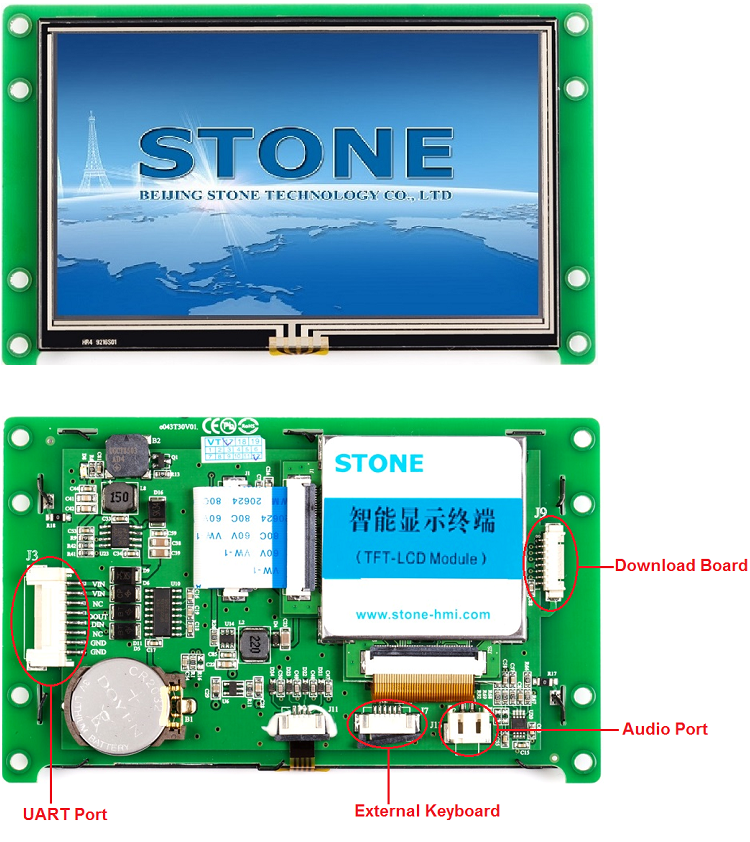 "4.3"" TFT LCD module with touch screen programmable tft lcm for smart home application"