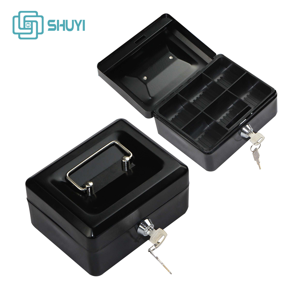 Safety Cash Box Coin Box With Key Lock