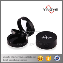 Two-layer empty makeup powder compact puff container