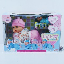 TOYZ lovely doll toy twin pack musical crawling baby