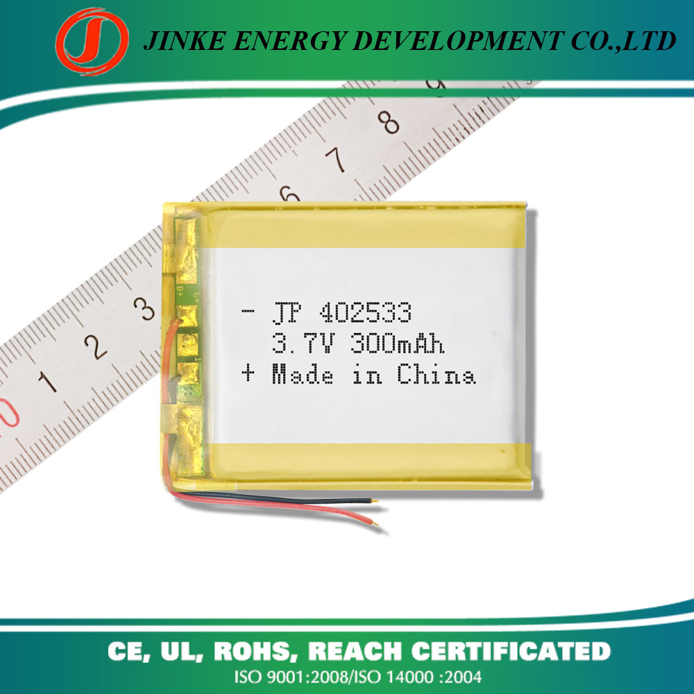 Cheap watch battery price 402533 3.7v 300mah lithium polymer battery