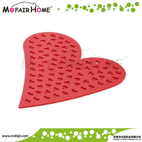 Heart Shaped Colorful Silicone Pot Holder