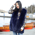 CX-G-B-15H China Factory Supply Delicate Fur Jacket Fox Fur Vest Women With Design