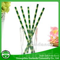 Disposable Striped/Chevron/Polka Dot/Star Paper Drinking Straws For Wedding Event Baby Shower Birthday Party