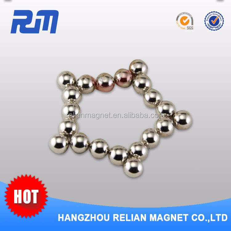Low price guaranteed quality ball shaped magnets for children