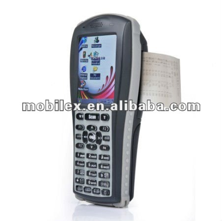 Win CE OS Portable PDA with built in pinter and RFID 13.56MHz Mifare ISO13334A/B,ISO15693 (MX7900)