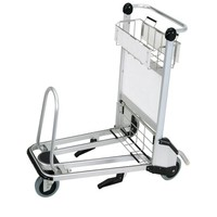 Aluminum Alloy Airport Luggage Trolley With