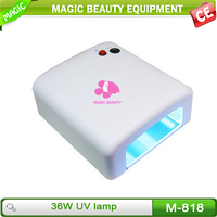 2015 high quality dual uv led nail lamp 36w