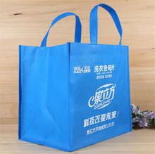 wholesale customized flat handle food nonwoven bag