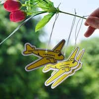 plane shaped paper car air freshener with electric rope hanging