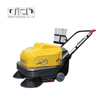 Vacuum Pavement Rotary Cleaning Brush Sweeper Electric Rotary Cleaning Brush Industrial Walk Behind Street Sweeper