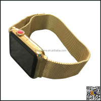 Watch band 24k gold housing for apple watch,gold watch band