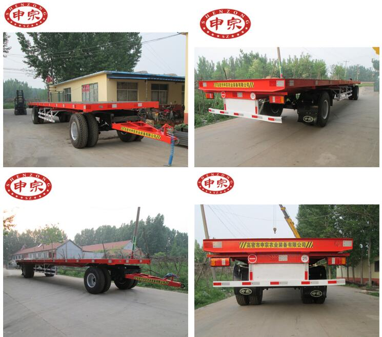 40ft heavy duty equipment farm low bed flatbed trailer