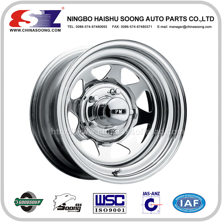 Strict Balancing Control High Standard Stainless Steel custom steel wheels for Offroad Cars