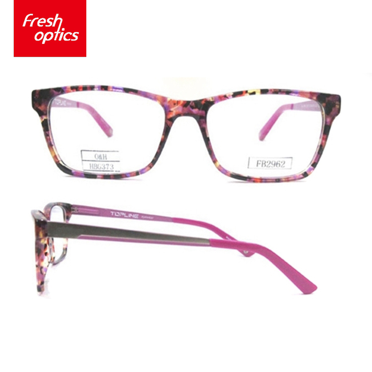 Custom Factory Directly Provide Decorated Acetate Optical Frames