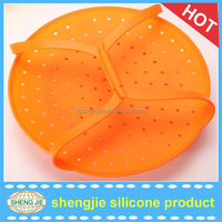 2016 High quality colorful unique silicone food display steamer
