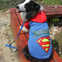 2016 hot sale superman winter dog coats for large dogs