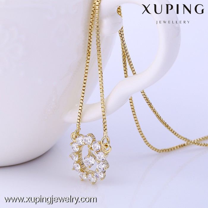 41718-xuping trendy necklace 2017 cheap bead diamond necklace