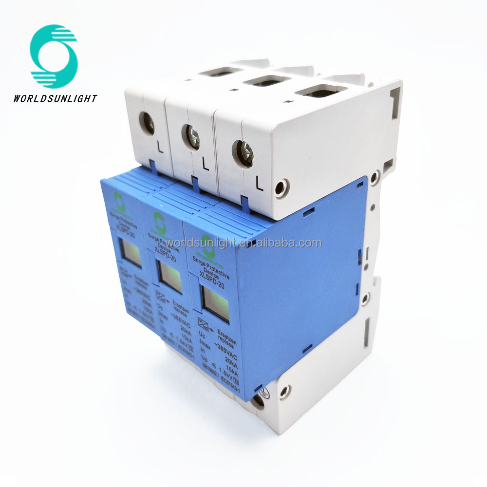 Wholesale With Lightning Online Buy Best From China Circuit Breaker Surge Protector220v Mini Worldsunlight Xlspd 20 Uc 385v 10ka 20ka Ac Outdoor Protection Device Spd
