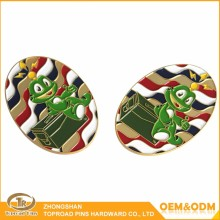 Custom metal coin die stamp plating cartoon coin custom frog customized challenge coin