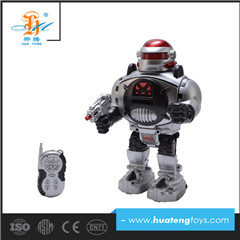 2017 hot new products shantou wholesale music toy rc robots for children