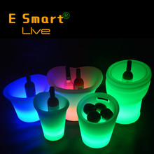 Decorative RGB Rechargeable LED Light Ice Bucket