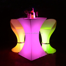 Waterproof Illuminated Color Changing Led Cocktail Table/Glow Led Mobile Bar