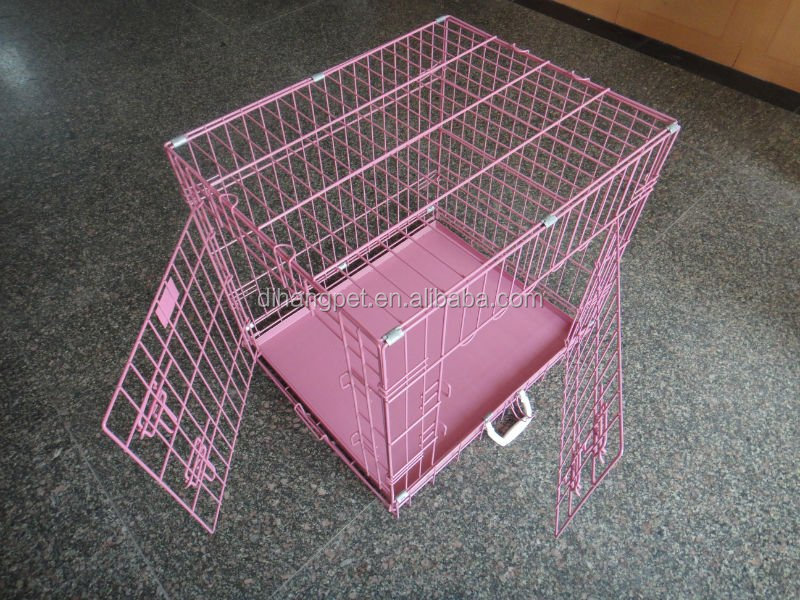 China manufacturer wholesale folding double door heavy duty dog crate