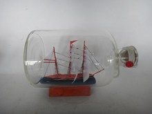 handmade glass ship bottle