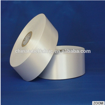 Thick polyester satin ribbon