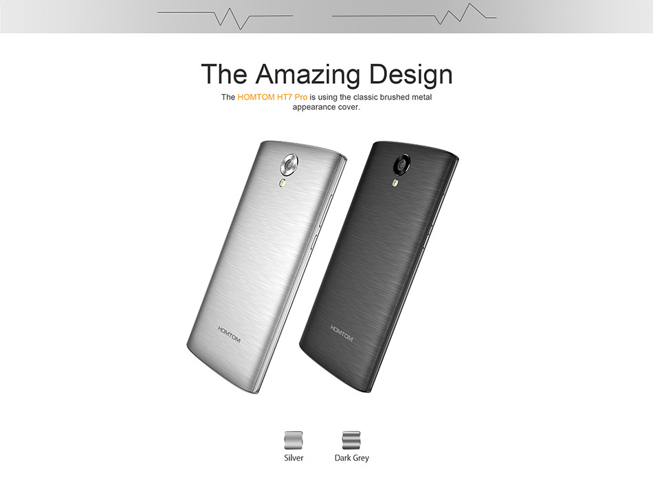 Slective Android Homtom ht7, colorful UI for fluent operation super slim body mobile phone