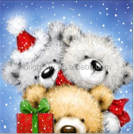 square christmas bear pattern shopping wine bag Gift Wrapping Paper Bag