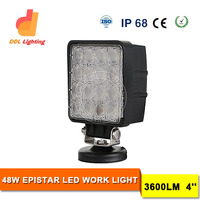 Top selling 4inch 12/24v IP68 spot/flood beam 27W Auto led Work lamp 48W Led Work Light