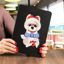 2018 hot waterproof ultra slim 8-inch pu leather shockproof back cover case for grils for ipad 2 3 4 in joy color