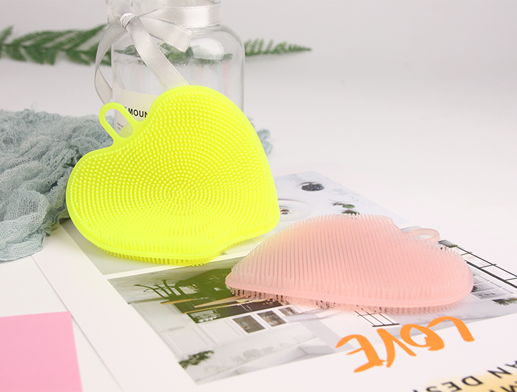 Household Scrubber Multifunction Silicone Double Faced Cleaning Sponge Vegetable Fruits Dishes Wash Brush for Pan Bowl Pot